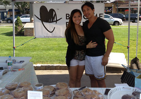 Bang Cookies at the Scotch Plains Farmer's market